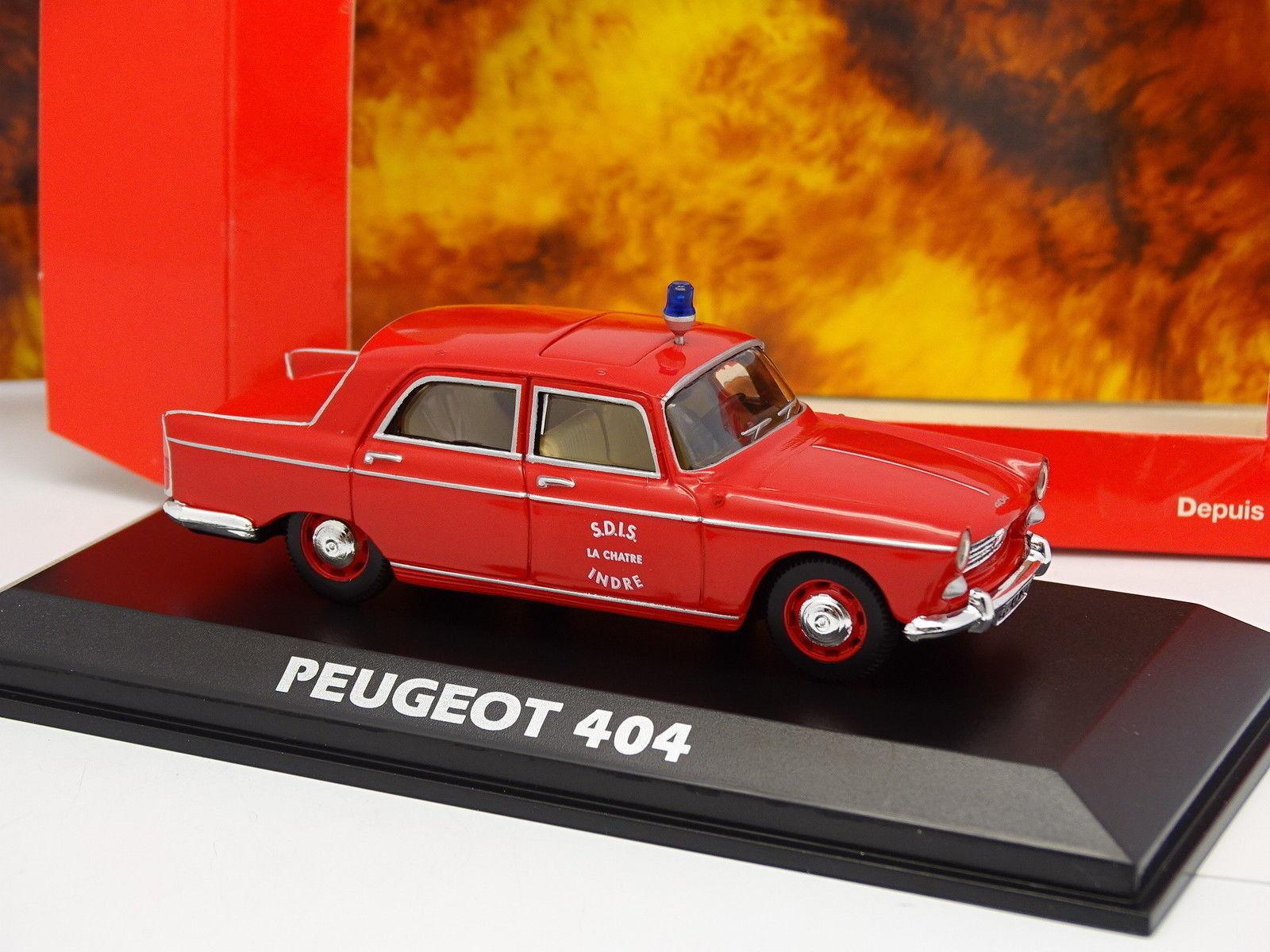 Norev 1 43 - Peugeot 404 Pompiers SDIS Indre