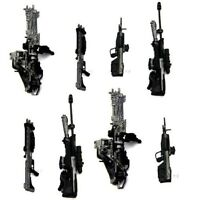 8pcs Weapons Accessories Marksman Sniper Rifle Machine RARE Turret Halo Figures