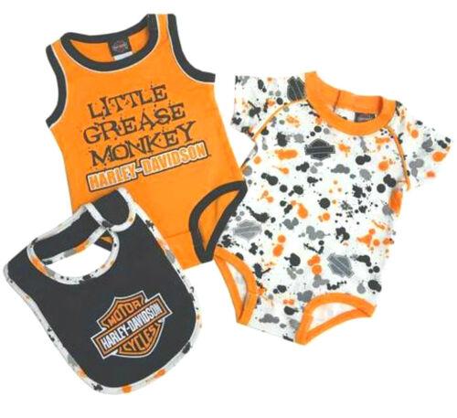 Harley-Davidson® Baby Toddler Boys 1-piece Creeper Shirt /& Bib 3-pc Set 3052805