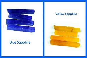 US Seller Natural Yellow & Blue Sapphire 480 Ct 8 Pcs Gemstone Slice Rough Lot