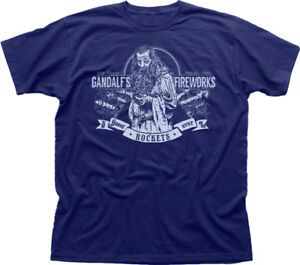 LOTR-Gandalf-inspired-Fireworks-navy-cotton-t-shirt-9891