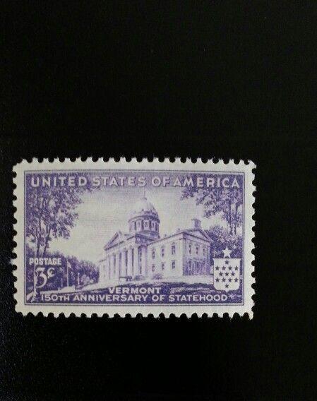 1941 3c Vermont Statehood, 150th Anniversary Scott 903