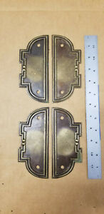 Lot-4-VTG-NOS-Furniture-Hardware-Backplates-BS-80317-K-Antique-Brass-Finish-6-034
