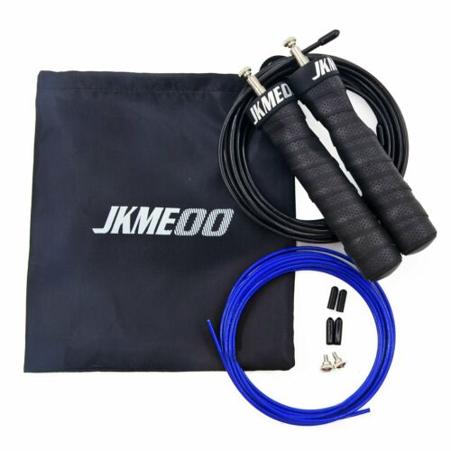 JKMEOO High Speed Jump Rope 10/' Adjustable PVC Coated Steel Cable
