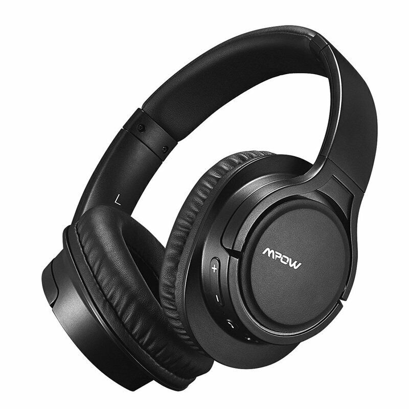 8669286d7bc Mpow Active Noise Cancelling Bluetooth Headphones Over Ear, Foldable  Headset, Wireless Headphones, Stereo Headphones Bluetooth Headset with Mic  for PC/Cell ...