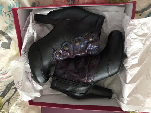 6 en Womens noir 99 LotusTaille avec New By cuir pour 39Rrp89 femmes bordure Bottes TlcK1J3F