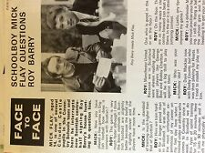 m3g ephemera football article Mick flay questions roy barry coventry
