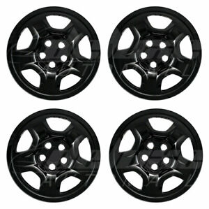 16-034-Black-Wheel-Skins-Covers-FOR-15-18-Jeep-Renegade-amp-17-19-Compass-Sport-x4