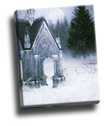 Beautiful Gothic Winter Church Giclee Canvas Wall Decoration Picture