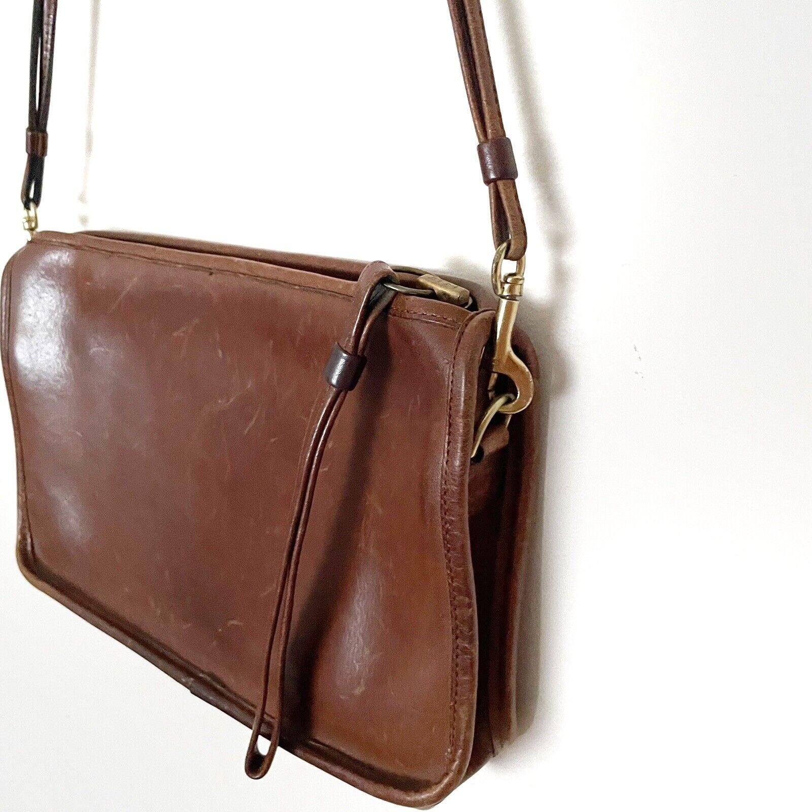 COACH Vintage Bonnie Cashin Brown Leather Shoulde… - image 4