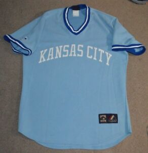 quality design 36c61 e0e2f Details about Kansas City Royals Majestic Cooperstown Collection Throwback  Baseball Jersey L