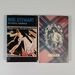 Rod Stewart 2x Cassette Tape Bundle - Smiler / Atlantic Crossing - Paper Labels