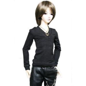 Black//White Vest//T-shirt For 1//4 MSD 1//3 1//6 SD SD17 AOD BJD Dollfie PF
