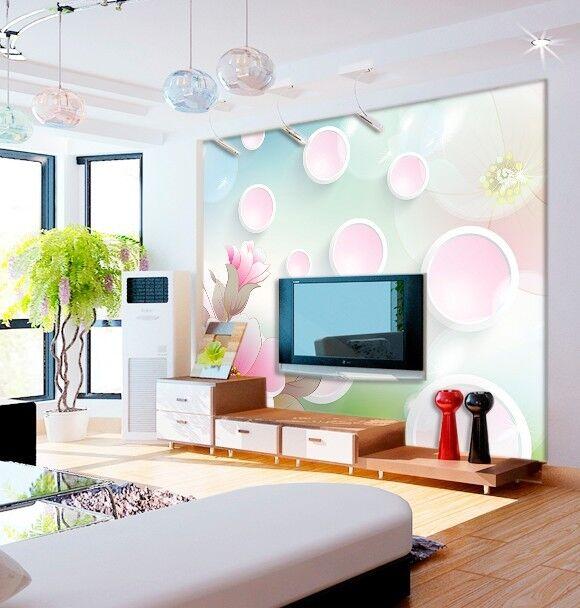 3D Kreis Blumenmuster 688 Tapete Tapeten Mauer Foto Familie Tapete Wandgemälde