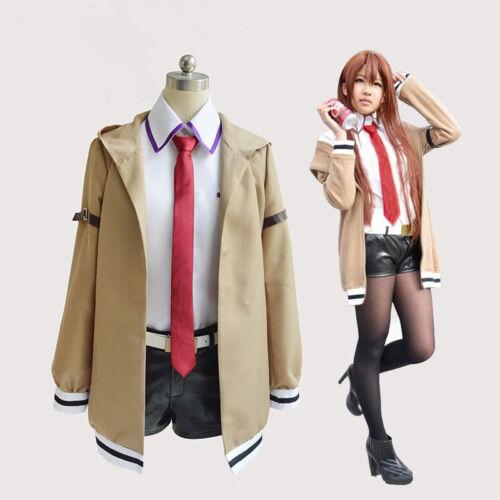 Steins;Gate Kurisu Makise Cosplay Full Costume Outfit Dress Up Adult Anime Girl