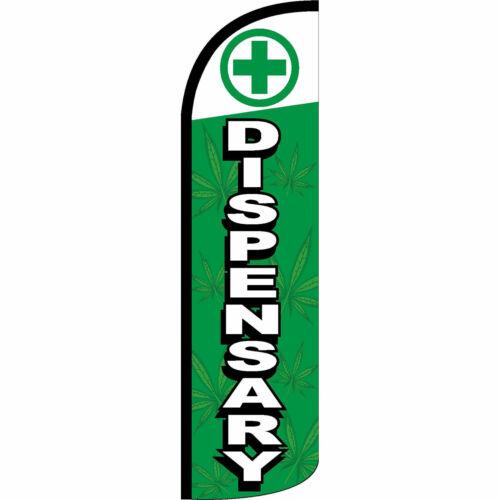Dispensary Flag Flutter Feather Banner Swooper Extra Wide Windless Bundle Kit