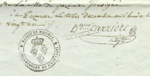 1801-PEZENAS-FREEMASON-mayor-manuscript-document-INCREDIBLE-SIGNATURE-WOV