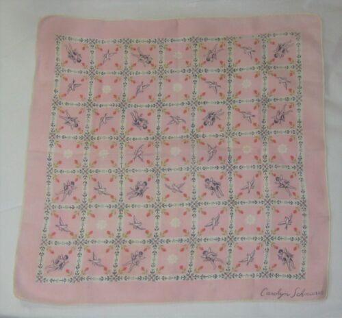 Vintage Carolyn Schnurer Hankie Handkerchief  Cher