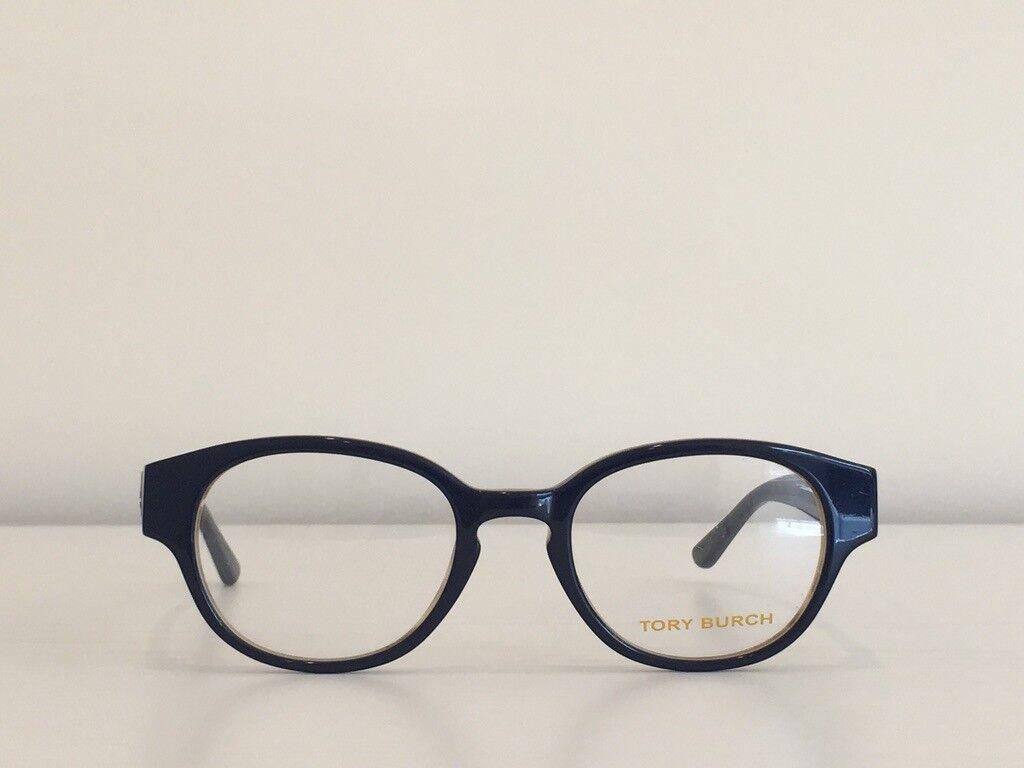 19 Tory Burch TY 2057 1492 Round Blue Havana Eyeglasses Optical Frame 49*20*135