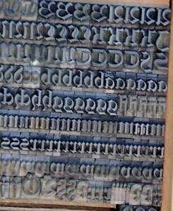 Fraktur-Bleischrift-10-5-mm-Bleisatz-Buchdruck-Handsatz-Bleilettern-altdeutsch