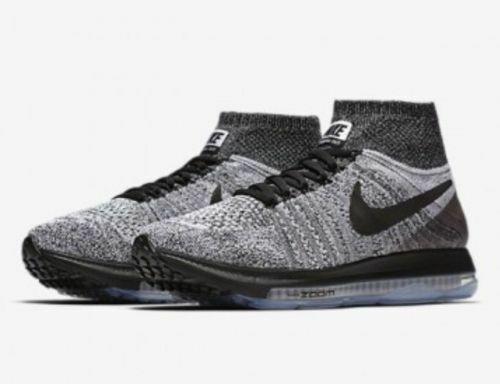 New Nike Zoom All Out Flyknit Women Running Training Shoes Black/Grey 845361 005
