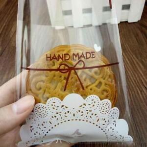 100Pcs Handmade Spitze Bäckerei Cookie Favor Selbstklebende OPP Plastiktüten Pro