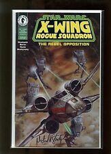 Star Wars: X-Wing Rogue Squadron #2 VFNM Autographed by Michael Stackpole
