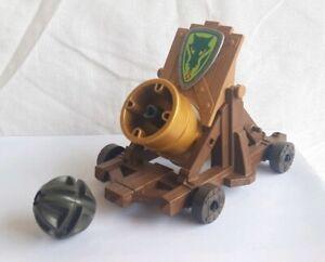 Détails Sur Playmobil Gros Canon Catapulte Et Boulet Chevaliers Dragon Vert Moyen âge Viking