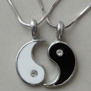 Split yin yang friendshipbest friend silver pewter pendant with image is loading split yin yang friendship best friend silver pewter aloadofball Image collections