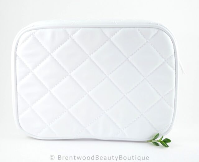 Trish McEvoy LARGE Collapsable White Cosmetic Makeup Organizer Bag - New
