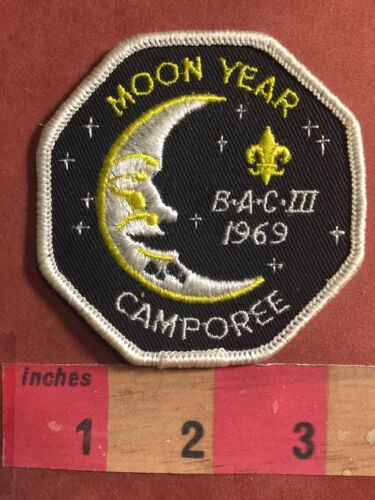 Vtg BSA Outer Space Patch 1969 Stars /& Man In Moon Year BAC III Camporee 66E0