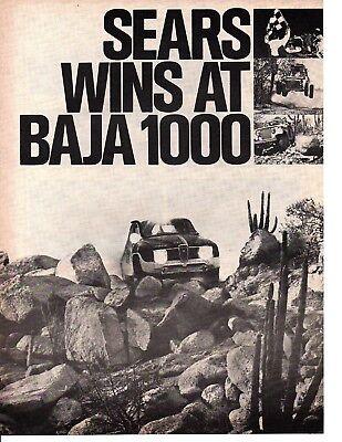 1971 Saab Baja 1000 Original Car Advertisement Print Ad J128