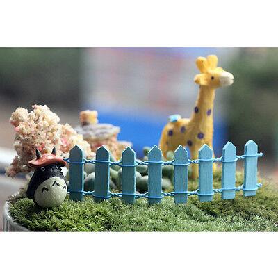 Popular Wooden Fences Garden Ornament Accessory Plant Pots Fairy Scenery Decors
