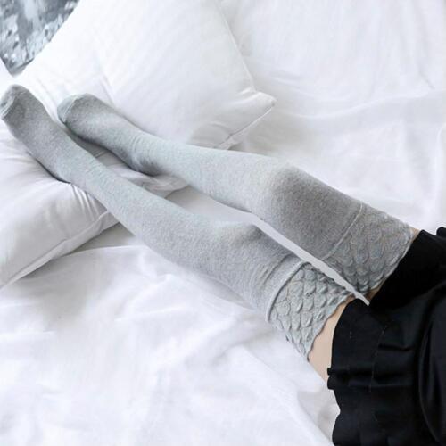 NUOVI calzini Donna Cotone Lavorato a Maglia Lungo Overknee coscia alta Calze Inverno caldo stretto