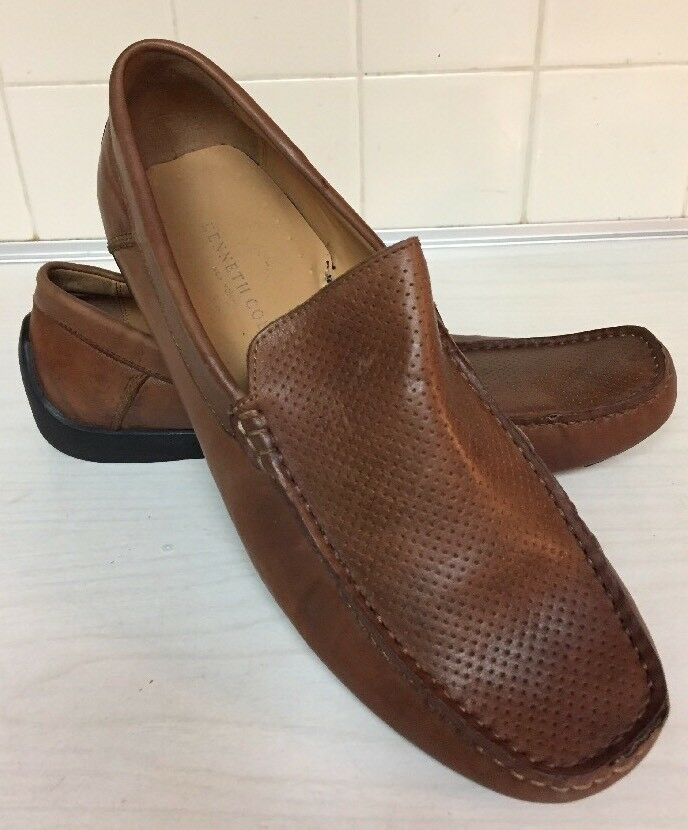 Kenneth Cole New York Sunday Fun-Day Brown Slip-On Loafers driving mocs Mens 8 M