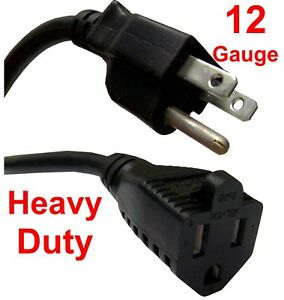 Electric Extension Cord 12 3 12 Gauge 3 Plug Heavy Duty
