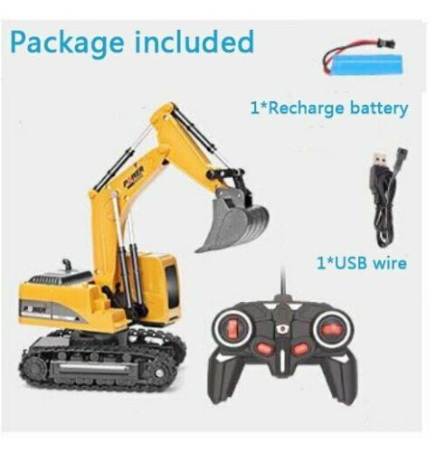 2.4Ghz 6 Channel 1:24 RC Excavator RC remote control jcb tractor 360 digger Toy