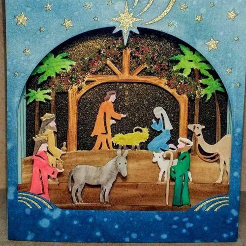 Christmas Nativity Scene Metal Cutting Dies for Scrapbooking New 2019 Craft Die