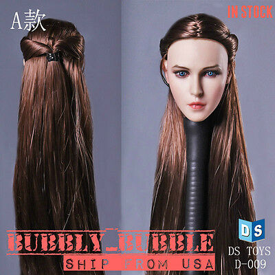 "1//6 Female Head Sculpt Long Braided Hair For 12/"" Phicen Hot Toys Figure ❶USA❶"