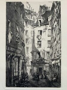 Louis orr etching eau forte etching the vineyard vines hotel belle gabrielle