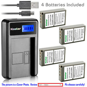 Kastar-Battery-LCD-Charger-for-Olympus-BLS-5-PS-BLS5-BLS-50-amp-Olympus-OM-D-E-M10