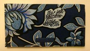 NWT-Vera-Bradley-Checkbook-Cover-Case-Purse-Bifold-Wallet-in-Tropic-Tapestry