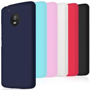 Souple-Silicone-Coque-pour-Motorola-Moto-G5-Moto-G5-Plus-Caoutchouc-Slim-Violet