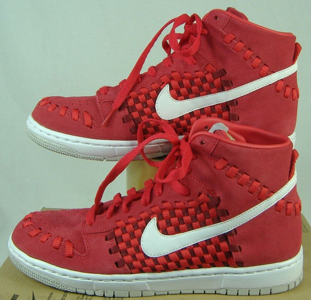 New Mens NIKE 10 Dunk Woven Hyper Red Checkered Basketball shoes  100 555030-600