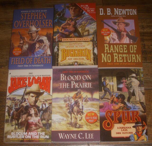 6 Western Paperback Lot By Kit Daltonjake Loganwayne C Leedb