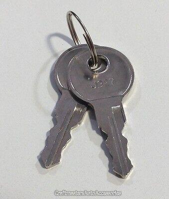 Truck cap Tonneau cover handle keys 1 pair #K127  Single cut keys