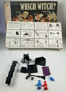 Which-Witch-Vtg-1970-Milton-Bradley-Board-Game-Parts-Box-NOT-COMPLETE