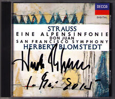 Herbert BLOMSTEDT Signiert Richard STRAUSS Eine Alpensinfonie Don Juan CD SFS