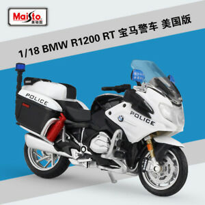 1 18 Maisto Bmw R1200rt Usa Police Motorcycle Bike Model White Ebay