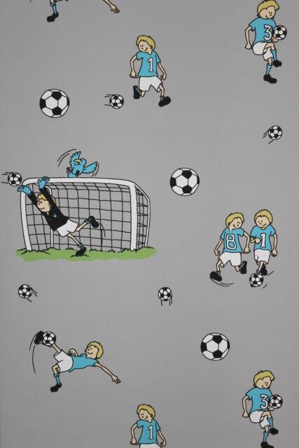 Vliestapete Kinderzimmer Kinder / jungen Zimmer Fussball Tapete